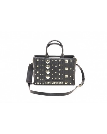 LOVE MOSCHINO - Borsa in ecopelle con borchie - Nero