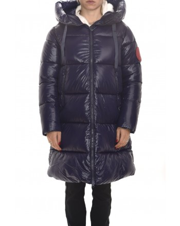 SAVE THE DUCK - Hood Padded Jacket - Evening Blue