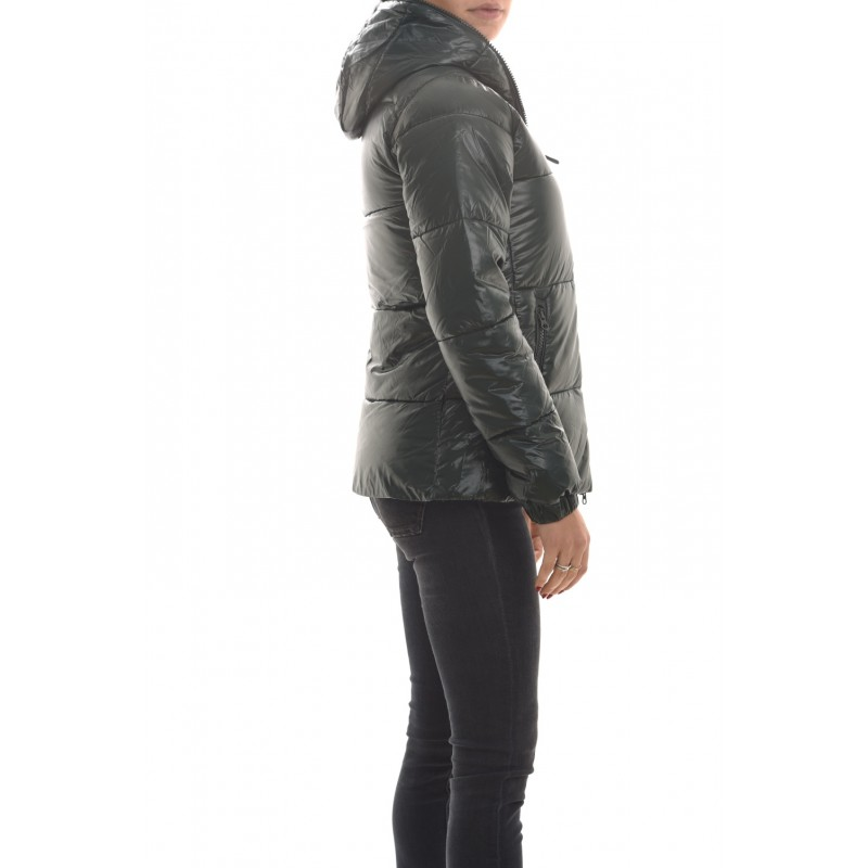 SAVE THE DUCK - Quilted jacket with hood - Alpine Green