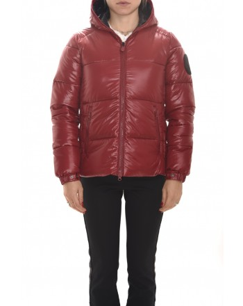 SAVE THE DUCK - Quilted jacket with hood - Mineral Red