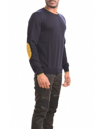 FAY - Wool sweater with patch - Blue