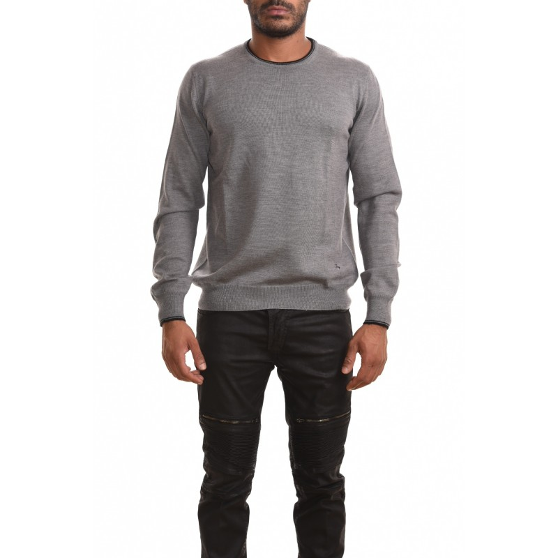 FAY - Wool sweater with patch - Grigio