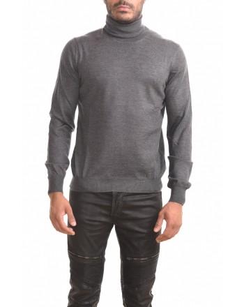 FAY - Maglia a collo alto in lana - Grigio