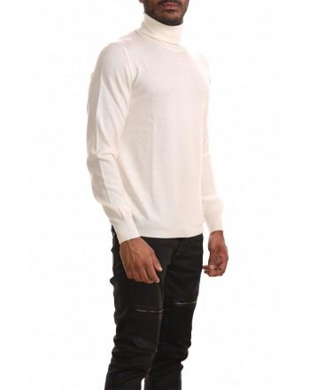 FAY - Maglia a collo alto in lana - Panna
