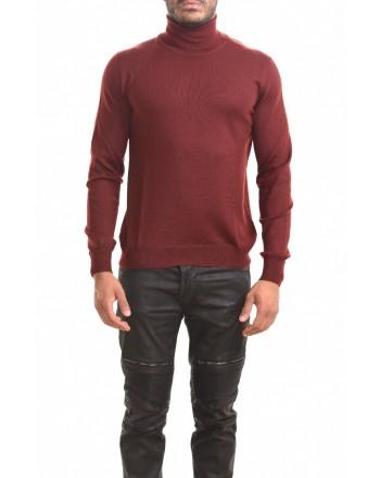 FAY - Maglia a collo alto in lana - Bordeaux
