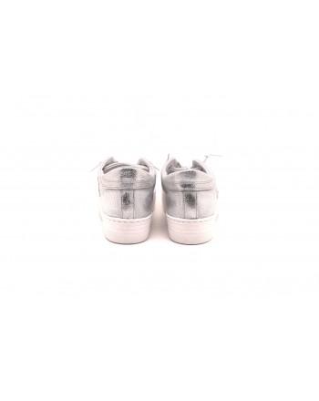 2 STAR - Sneakers LOW ARGENTO in pelle - Silver