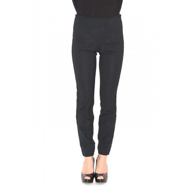 POLO RALPH LAUREN -Pantalone Skinny con strass - Nero