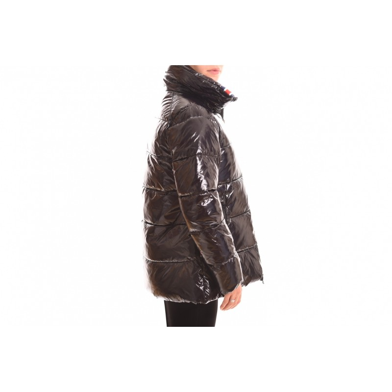 INVICTA - Quilted jacket without hood - Black/Saffron