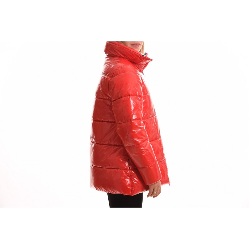 INVICTA - Quilted jacket without hood - Red/Ecru