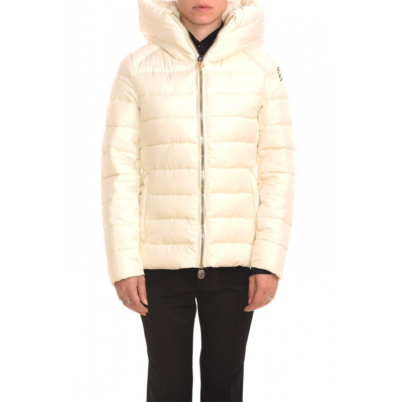 INVICTA - Quilted jacket without hood - Ecru/Ecru
