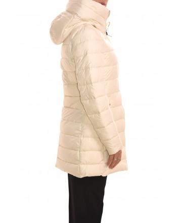 INVICTA - ISABEL long jacket with hood - Ecru