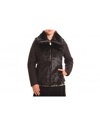 INVICTA - Woman jacket with Eco leather - Black/Black