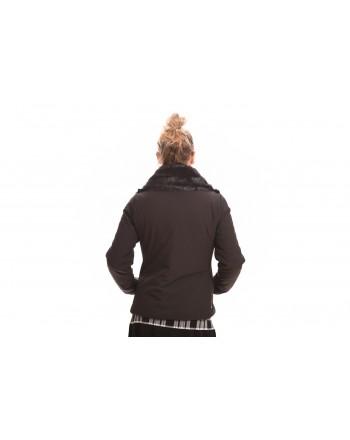 INVICTA - Giubbino Donna con applicazione Eco pelliccia - Nero/Nero