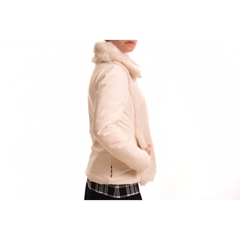 INVICTA - Woman jacket with Eco leather - Ecru