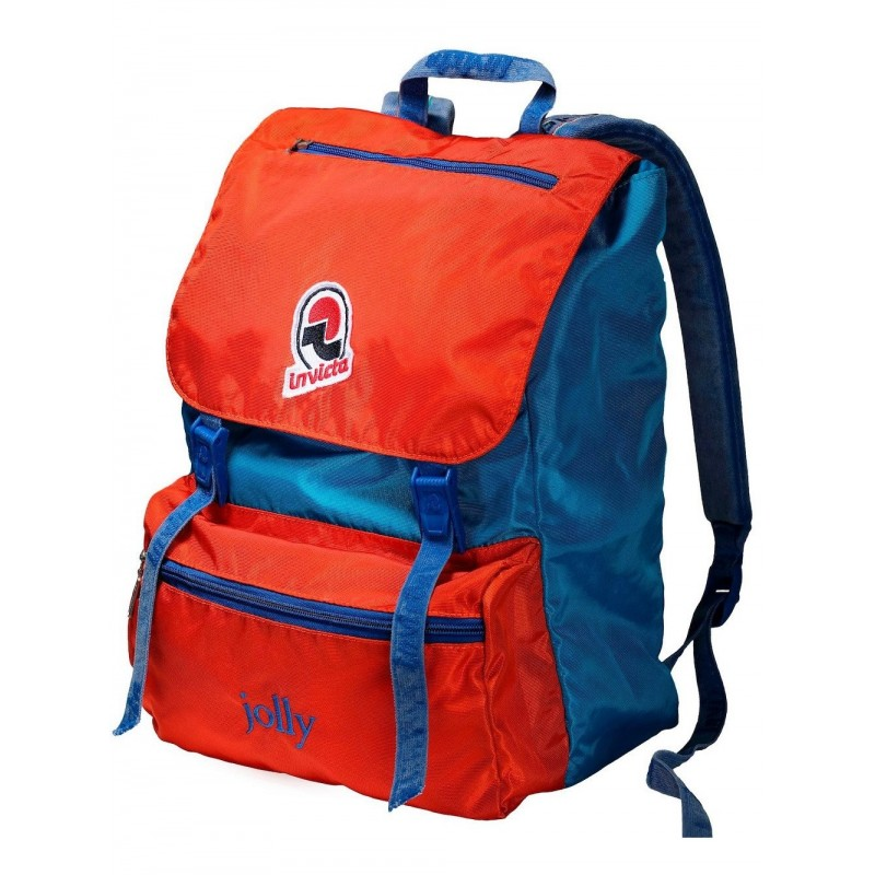 INVICTA - Vintage Jolly Backpack - Red/Light blue