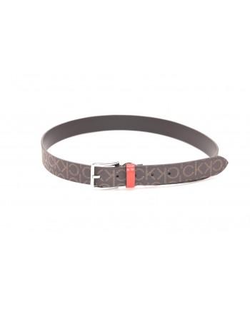 CALVIN KLEIN - Monogram Belt - Brown