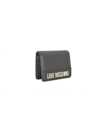 LOVE MOSCHINO - Portafoglio in pelle con Logo - Nero