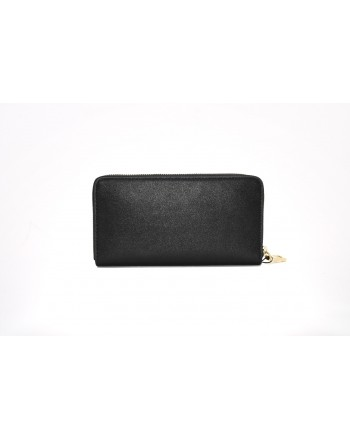 LOVE MOSCHINO - Portafoglio in pelle con borchie - Nero