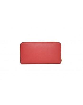 LOVE MOSCHINO - Portafoglio in pelle con borchie - Rosso