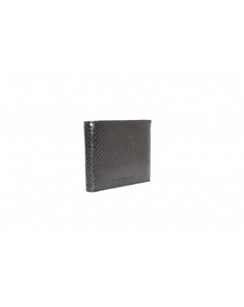 EMPORIO ARMANI - Snake print leather wallet - Black