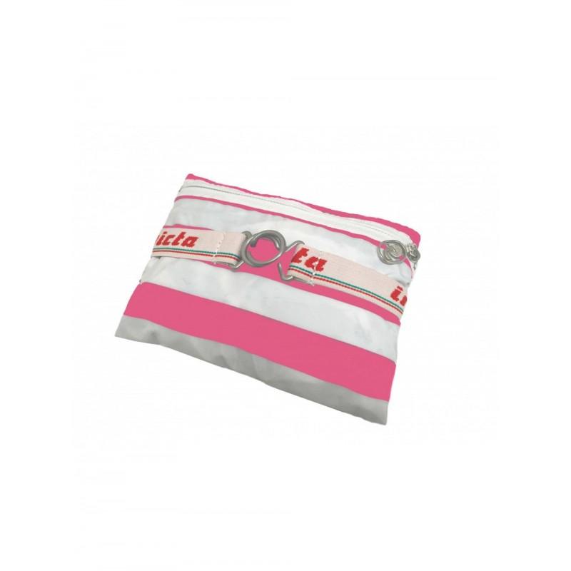 INVICTA -  MINISAC Striped backpack - Fuchsia