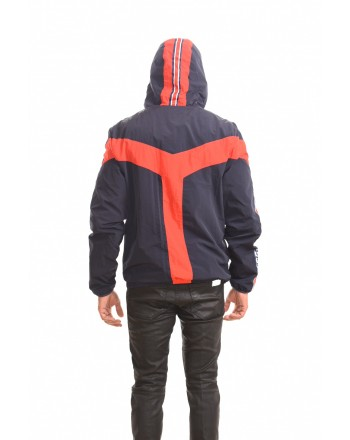INVICTA - Two colours jacket with hood - Blue/Red