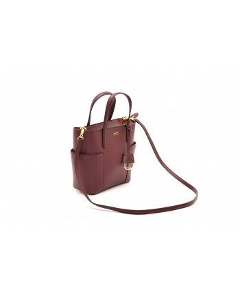 POLO RALPH LAUREN - Mini Tote Bag - Bordeaux/Brown