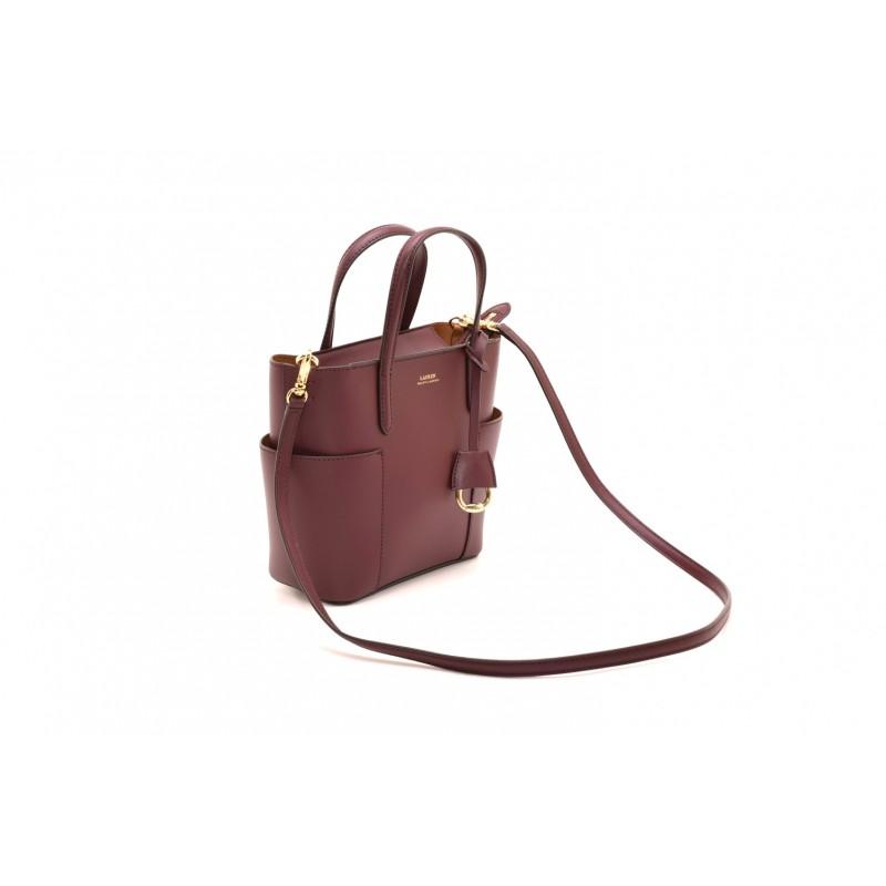 POLO RALPH LAUREN - Mini Tote Bag - Bordeaux/Brown