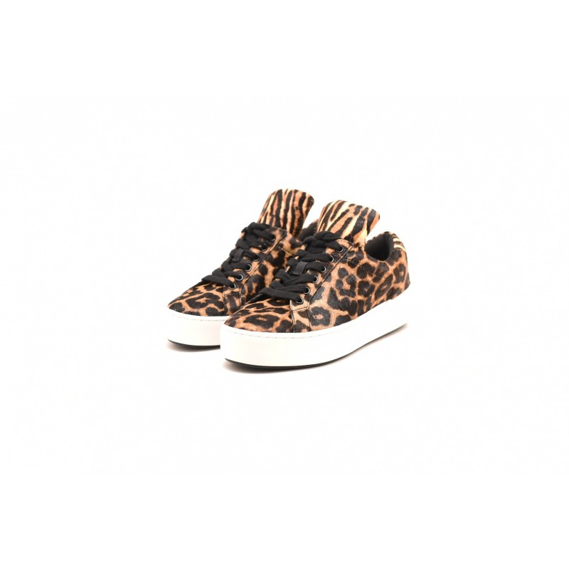 MICHAEL by MICHAEL KORS - Animalier Ecofur Sneakers MINDY - Butterscotch