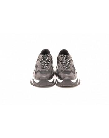 ASH - ADDICT Sneakers in crocodile printede leather - Black