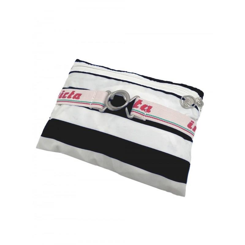 INVICTA -  MINISAC Striped backpack - Black