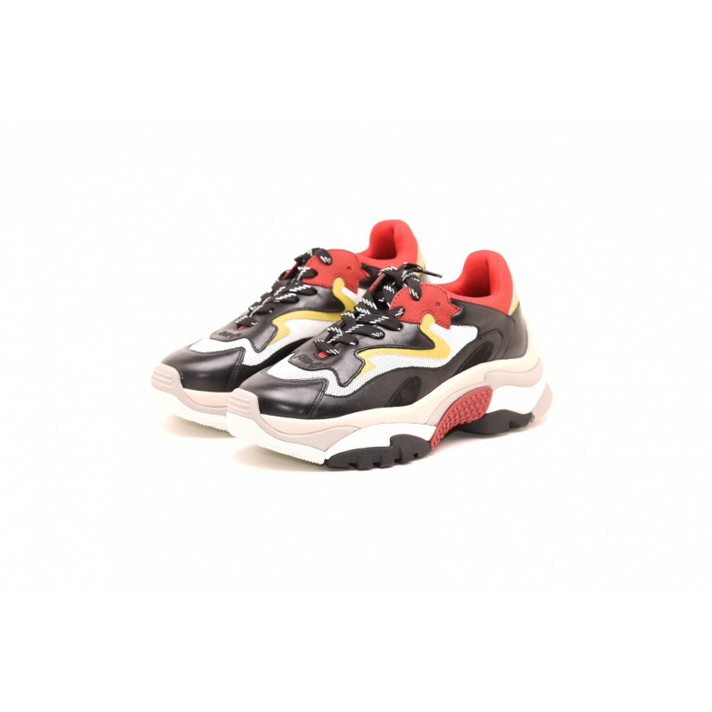 ASH - Sneakers ADDICT DRAGON in pelle  - Rosso/Bianco/Giallo