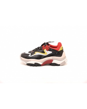 ASH - ADDICT DRAGON Sneakers in leather - Red/White/Yellow