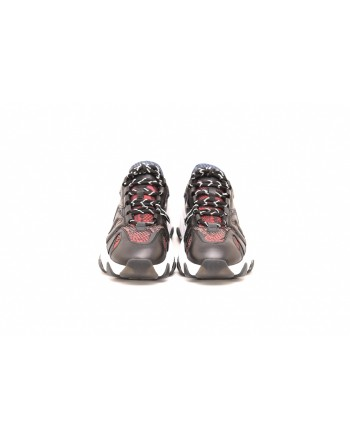 ASH - Sneakers EXTREME in pelle stampa pitone  - Taupe/Forest