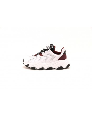 ASH - Sneakers EXTREME in pelle - Bianco/Bordeaux