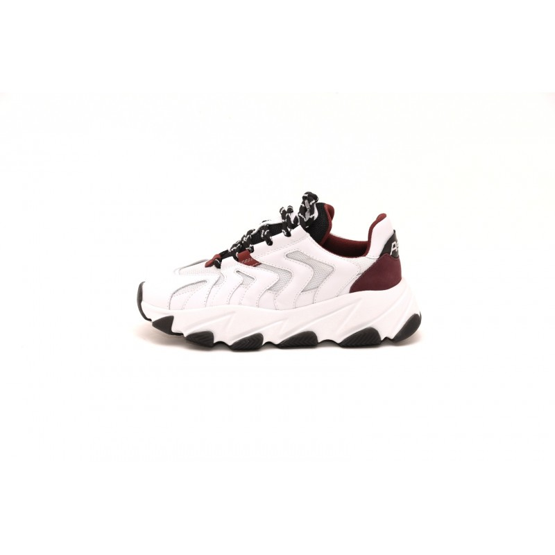 ASH - EXTREME sneakers in leather - White/Bordeaux