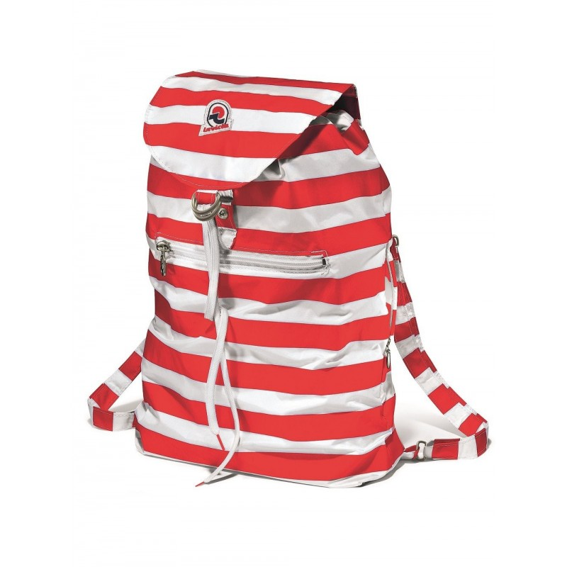 INVICTA -  MINISAC Striped backpack - Red