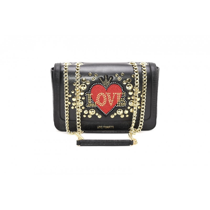 LOVE MOSCHINO - Ecoleather bag with HEART - Black