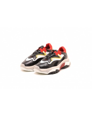 ASH - ATOMIC Sneakers in leather - Black/Yellow/Red