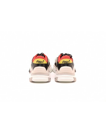 ASH - Sneakers ATOMIC in pelle  - Nero/Giallo/Rosso