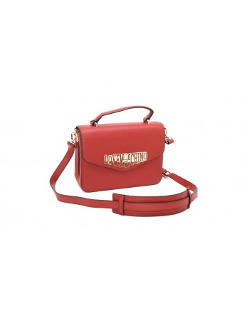 LOVE MOSCHINO - Borsa in Ecopelle con Logo  - Rosso