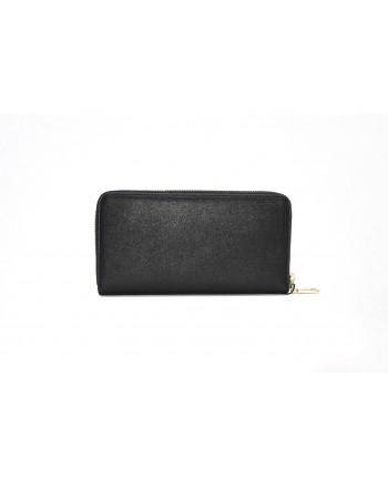 LOVE MOSCHINO - Zip Around Heart Wallet - Black