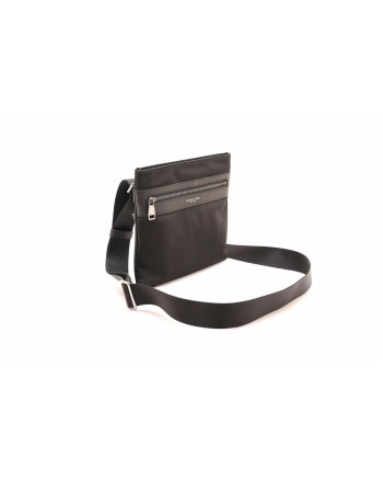 MICHAEL BY MICHAEL KORS - Leather and technical fabric bag Black