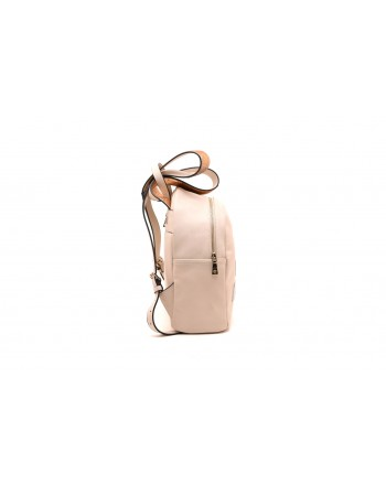 LOVE MOSCHINO - Backpack with embossed Logo print - Ivory